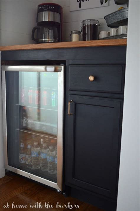 home bar cabinet with refrigerator how to build a beverage bar at home with the barkers