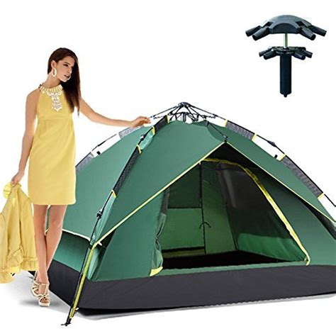 outdoor hiking automatic pop  double layer instant open camping family umbrella tent