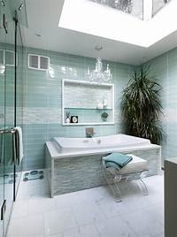 glass tile bathroom Turquoise Interior Bathroom Design Ideas | My Decorative