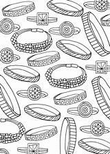 Bracelets sketch template
