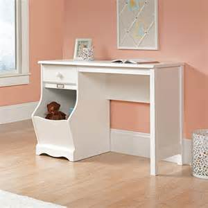 sauder pogo desk soft white