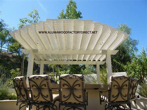 alumawood freestanding laguna lattice patio cover dove