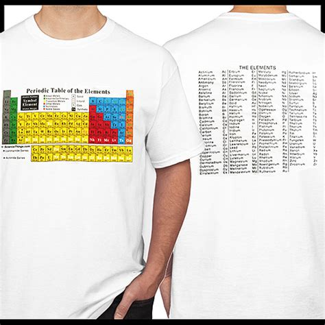 periodic table t shirt science things periodic table of the elements t shirt