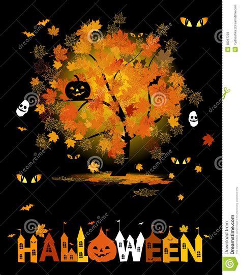 halloween party background stock vector illustration