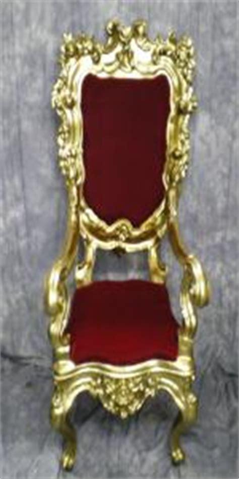 throne santa chair velvet