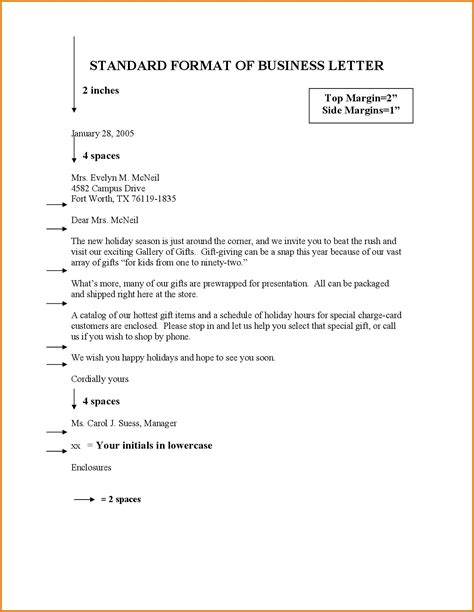business query letter format application sle english