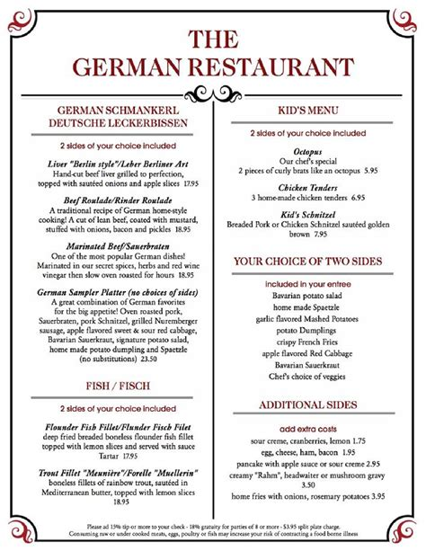 german cuisine menu traditional german food menu best food 2017