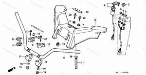 Honda Atv 1997 Oem Parts Diagram For Handlebar