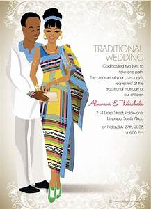 funanani venda traditional wedding invitation card With pedi traditional wedding invitations