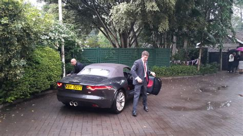 Photos Of British High Commissioner Testing Out A Jaguar