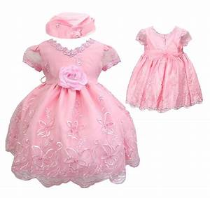 new baby infant toddler girl pageant wedding formal pink With infant dresses for wedding