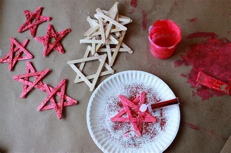 glitter stars  simple christmas craft  kids