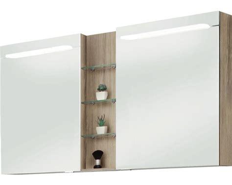 spiegelschrank marlin bad 3070 eiche natur 140 cm breit 2 t 252 rig bei hornbach kaufen