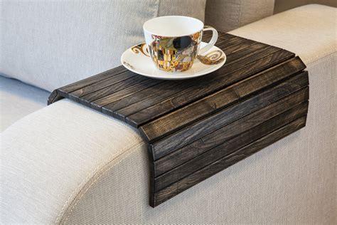 flexible wooden sofa armrest tray table green head