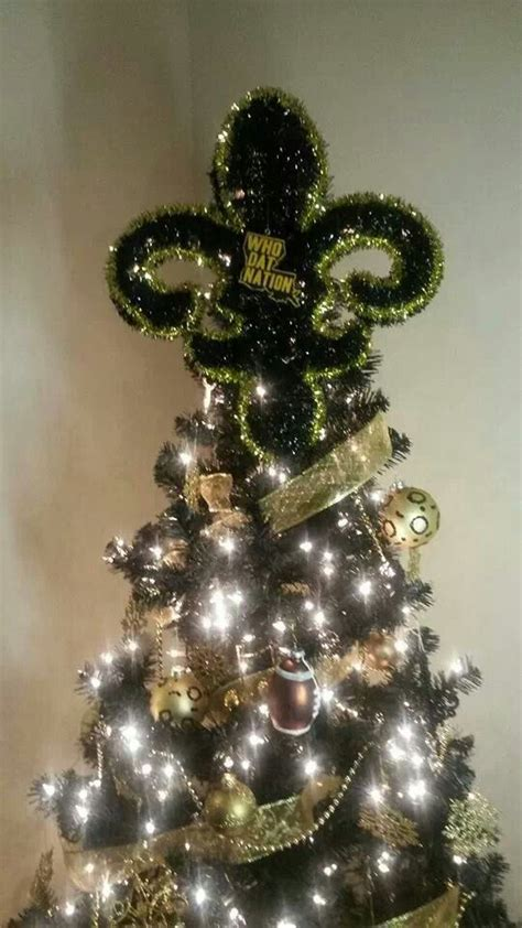 new orleans saints christmas tree my new orleans saints
