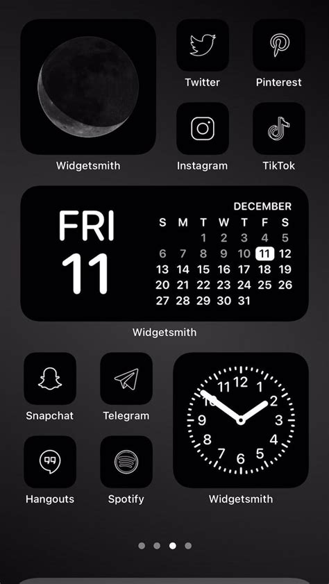 minimal charcoal icon aesthetic pack black and white app