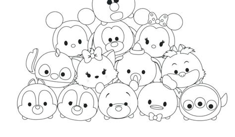 cute tsum tsum coloring pages  coloring sheets