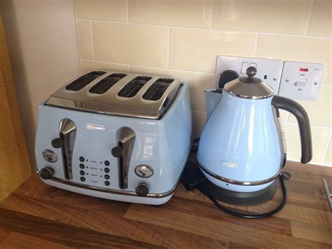 Delonghi Icona Kettle And Toaster Black by Delonghi Icona Vintage Kettle And Toaster Set In Ipswich