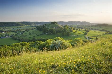 Downham Hill From Uley Bury The Cotswolds Gloucestershire England Uk Photograph