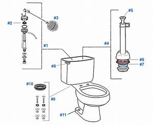 Mansfield Elm Ridge    Bar Harbor Toilet Replacement Parts