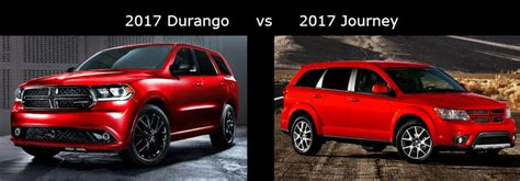 dodge durango   dodge journey comparison