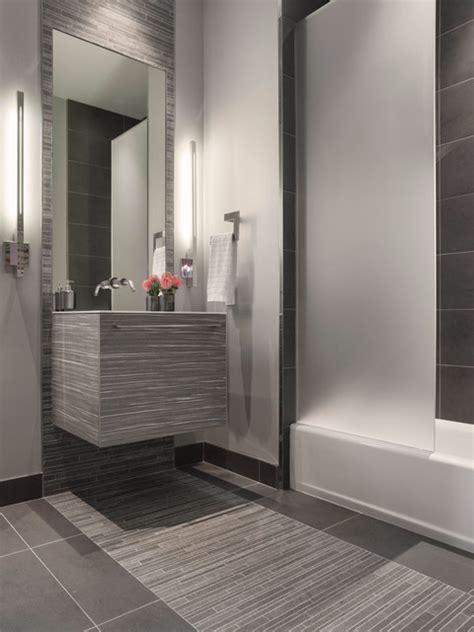 Modern Bathroom Gray by Modern Gray Mosaic Tile Bathroom Contemporary Bathroom