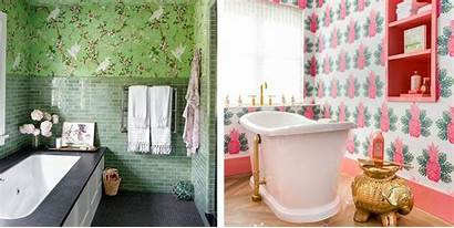 Bathroom Wall Bathrooms Coverings Wallpapered Wallpapers Attractive