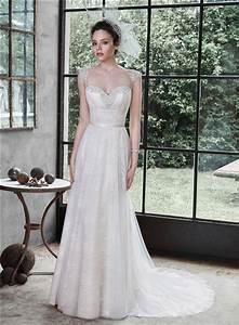 a line sweetheart cap sleeve low back lace beaded wedding With spaghetti strap a line wedding dress
