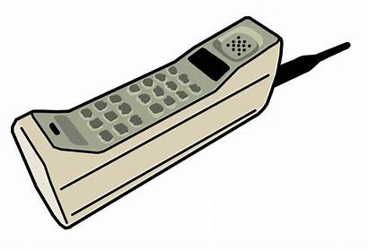 Phone Cell Clipart 90s 80s Telephone Technology