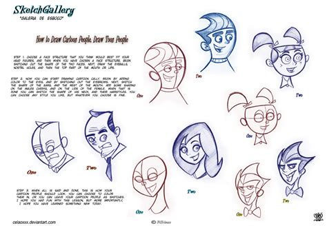 How To Draw Cartoon People Draw Toon People By Celaoxxx On