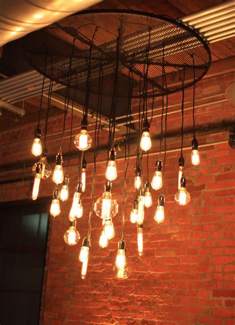 lamp vintage style globe filament light shines