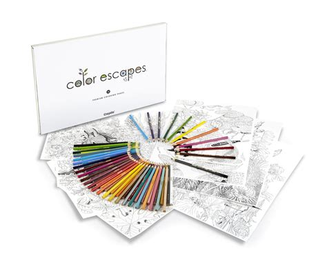 crayola color escapes adult coloring books coloring pages
