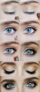 Maquillage Yeux Tuto : le maquillage des yeux bleus maquillage des yeux ~ Nature-et-papiers.com Idées de Décoration