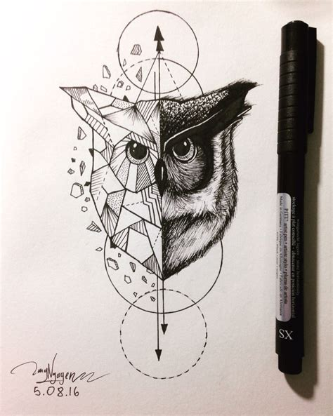 owl geometric animal pinteres