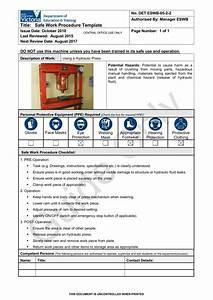 lovely safe work procedures template ideas resume ideas With work procedures template