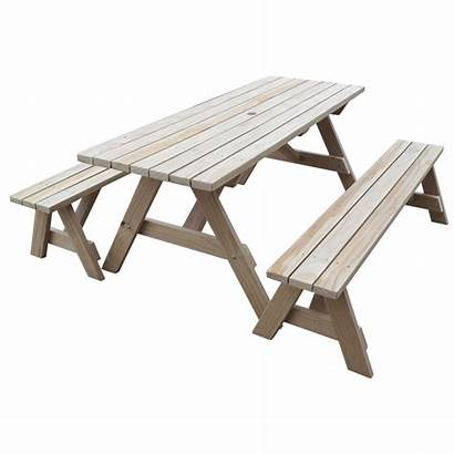 Table Benches Separate Seats Adults Ranch 2x