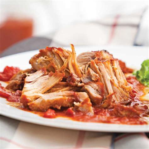 recette cuisine porc porc braisé sauce barbecue recettes cuisine et