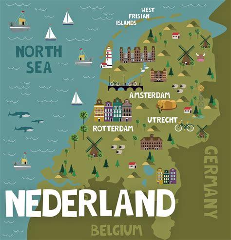 Niederlande Karte der wichtigsten Sehenswürdigkeiten ...