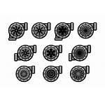 Turbolader Vektor Icons Turbocharger Kostenlos Freier Orangereebok