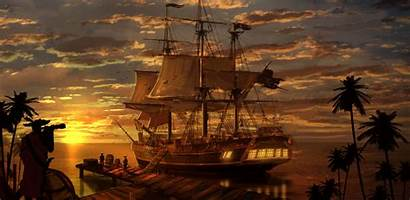 Pirate Ship Wallpapers Pirates Backgrounds Flag Wall
