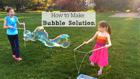 how to make solution for bubbles inner