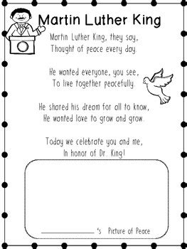 dr martin luther king jr mini unit printables by