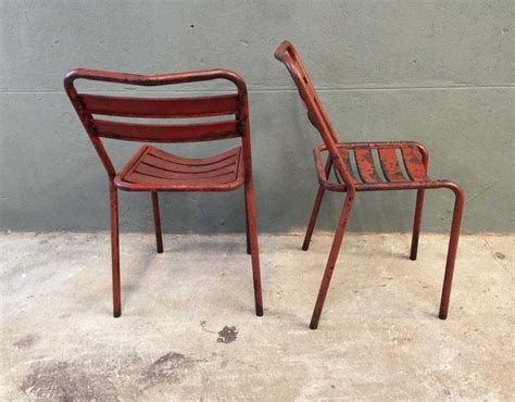 chaise bistrot metal ensemble 4 chaises bistrot style tolix