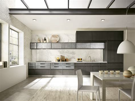 cuisine lineaire design linear kitchen with integrated handles timeline timeline
