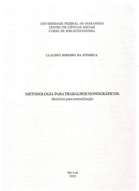 capa de trabalho nas normas abnt tcc monografia artigos modelo de capa e contra capa para trabalhos