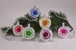 Weihnachtskugeln Glas Lauscha : 6 reflexkugeln 8cm silber farbig onlineshop f r ~ A.2002-acura-tl-radio.info Haus und Dekorationen