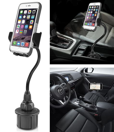 cup holder phone mount new macally mcup2xl cup holder car mount adjustable