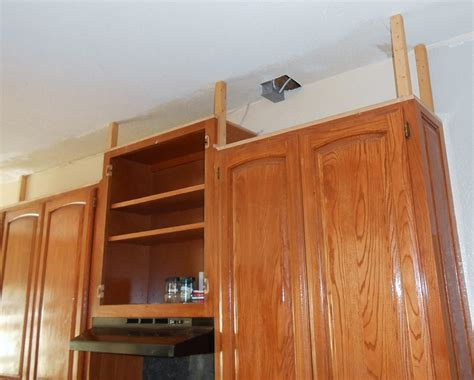 Project: making an upper wall cabinet taller (kitchen