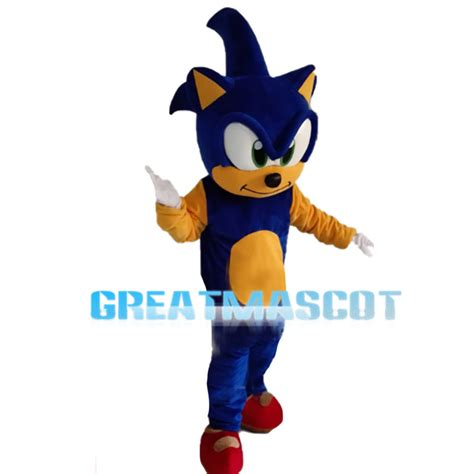Hedgehog Sonic With White Gloves Mascot Costume