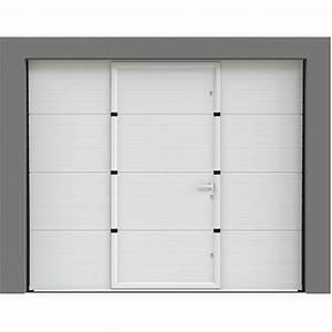 Porte De Garage Avec Portillon : porte de garage sectionnelle avec portillon porte ~ Melissatoandfro.com Idées de Décoration